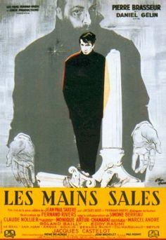 LES MAINS SALES- poster for 1951 film by Jean-Paul Sartre