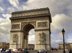 Arc de Triomphe - Champs-Élysées, Paris. I love the view from the top