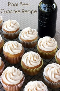 Simple root beer cupcake recipe. These cupcakes have the perfect amount of root beer flavor to them. Great for summer time gatherings.