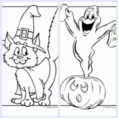 Halloween: dibujos infantiles para colorear