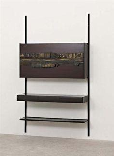 OSVALDO BORSANI AND ARNALDO POMODORO  Unique wall-mounted bar unit, c. 1954