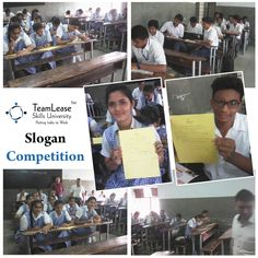 Slogan competition at Shreyash High School Manjalpur by TeamLease Skills University on the occasion of Teacher's day. Active participation of all the students was seen in the competition and beautiful slogans were dedicated to all the teachers.