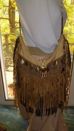 3523aef395ad Handmade Golden Suede Leather Fringe Shoulder Bag Hippie Boho Hobo Purse  Jasper  Handmade  ShoulderBag