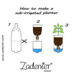 How to make a sub-irrigated planter. www.zadenier.com