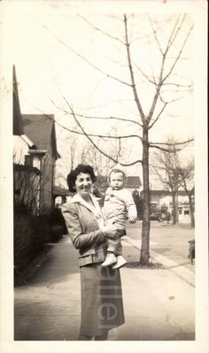 A personal favorite from my Etsy shop https://www.etsy.com/listing/246645307/vintage-photo-mother-and-child-black