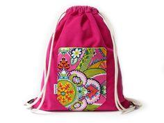 Rucksäcke & Beutel - Sporttasche, Cord, pink, Turnbeutel, Gymbag, hip - ein Designerstück von ambaZamba bei DaWanda