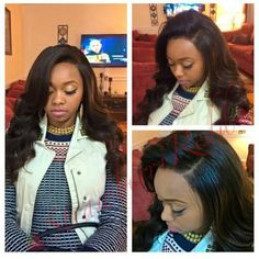 """From Client @whit_myself_and_i Finally installed my #cexxyhair 20,18,16 inch  Brazilian water wave and 14"""" frontal,loving it! #virginhair #cexxy #humanhairweave  #cexxyhair #hairextension  #brazilianvirginhair #waterwavy #wave #brazilianhair #cexxy"""