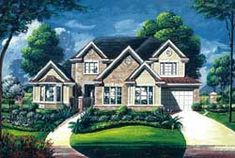 Luxury Style House Plans - 4032 Square Foot Home , 2 Story, 3 Bedroom and 3 Bath, 3 Garage Stalls by Monster House Plans - Plan 8-1015