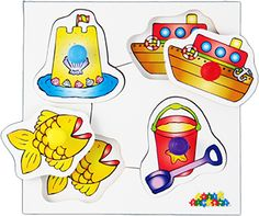 Set1: Includes: Bugs, Fruit, Transport and Seaside. each with different colour pegs. #earlyyears #madeinbritain