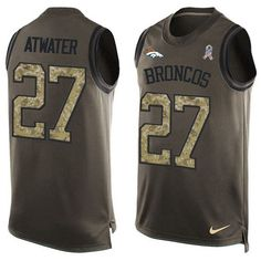 Nike #Broncos #27 #Steve #Atwater Green Men's Stitched #NFL Limited Salute To Service Tank Top #Jersey