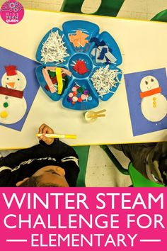 My elementary students love this interactive winter STEAM challenge to create a snowman or snowflake using simple, inexpensive art supplies. With a fun, easy writing prompt, students can also practice their creative writing skills. This hands-on, engaging STEAM activity is perfect for large group or small group activities!