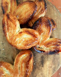 Palmier / Pig's Ear Pastries Pig Ears, Baking Parchment, No Sugar Foods, Rolling Pin, Tray Bakes, Pastries, Tea Time, Pantry, Sweet Tooth