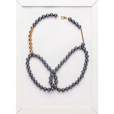 Necklace with grey