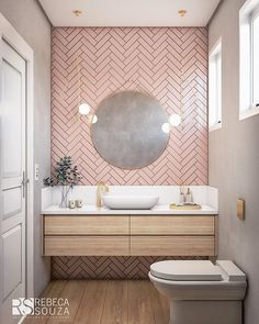 pink bathroom Rosa F - bathroomdecoration Small Bathroom Decor, Bathroom Layout, Bathroom Interior, Bathroom Decor, Amazing Bathrooms, Interior, Bathroom Interior Design, Home Decor, House Interior