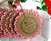 cute kitchen tags ♥ for cookie exchanges or baked goods  raisinguprubies.etsy.com