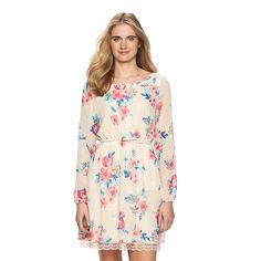 Women's LC Lauren Conrad Chiffon Fit & Flare Dress