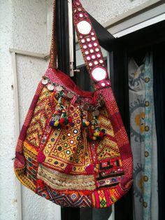 the bag made in a Banjara style
