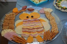cheese and meat owl tray