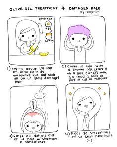 Oil hair treatment for liek your gross damaged hair