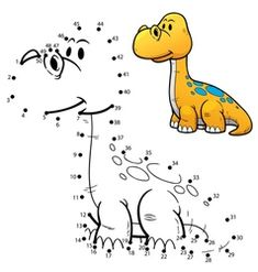 Illustration about Vector Illustration of Education dot to dot game - Dinosaur. Illustration of education, play, child - 65067251 Dinosaur Outline, Dinosaur Silhouette, Dinosaur Pattern, Cool Coloring Pages, Cartoon Coloring Pages, Animal Coloring Pages, Educational Games For Preschoolers, Games For Kids, Spot The Difference Kids