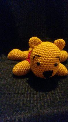 Winnie the Pooh Bear Crochet Amigurumi Stuffed by kalijames13