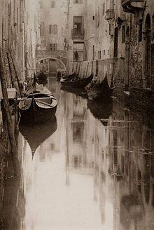"""Venetian Canal"" (1894) by Alfred Stieglitz"