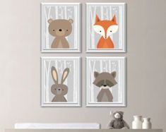 Woodland Nursery Art Woodland Nursery Decor by YassisPlace