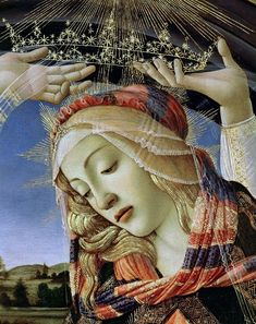 Мадонна Магнификат, деталь. Сандро Боттичелли
