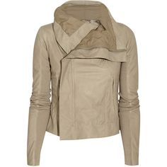 Rick Owens Classic Biker leather jacket ($2,981) ❤ liked on Polyvore