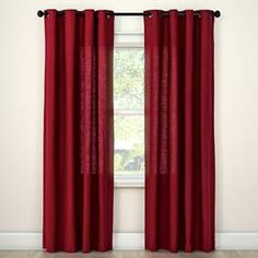 Made of cotton<br>&bull; Brass grommets<br><br>Finish the look of your home with Natural Solids Window Treatments. This curtain panel comes in a choice of sizes and colors and is machine washable. 96 Inch Curtains, Panel Curtains, Target Curtains, Valance, Dark Blue Curtains, Decorating Your Home, Interior Decorating, Light Blocking Curtains, Bedroom Images