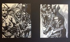 """""""Faces of Gallipoli"""" by Paula Benson from Centenary Collection."""