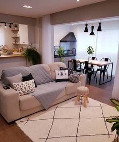 Home Room Design, Dream Home Design, Living Room Designs, House Design, Apartment Interior, Apartment Design, Apartment Living, Home Living Room, Living Room Decor