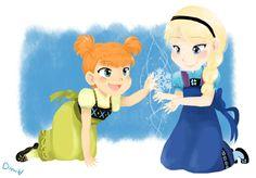 Anna and Elsa by SkyDrew.deviantart.com on @deviantART