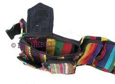 Praktische bunte Bauchtasche 'Jawl' aus Baumwolle, diverse Farben - Ethno Taschen - Hippie Taschen - Bunte Taschen - Gürteltaschen Goa - Goa Taschen
