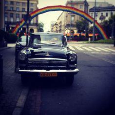 Warsaw, rainbow