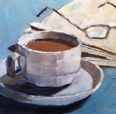 """My newest daily painting: Sarah B. Lytle Original Oils """"Morning Routine"""" 6""""x6"""" oil"""