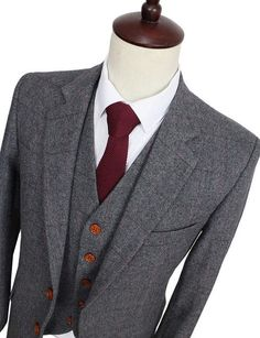 wedding suits for men Picture - More Detailed Picture about 2016 Wool Retro Grey Herringbone Tweed British style custom made Mens suit tailor slim fit Blazer wedding suits for men 3 piece Picture in Tailor-made Suits from tailormade suits Store Mens Groom Wedding Suits, Best Wedding Suits, Grey Suit Wedding, Wedding Dress Men, Wedding Men, Tweed Wedding, Wedding Matches, Mens Suit Stores, Mens Suits