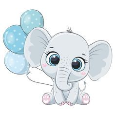 Baby Elephant Drawing, Elephant Baby Boy, Baby Animal Drawings, Little Elephant, Cute Drawings, Baby Elephants, Baby Cartoon Drawing, Elephant Quilt, Baby Deer