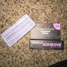 Flare long individual eyelashes black + glue NWT All brand new and never used MAC Cosmetics Makeup