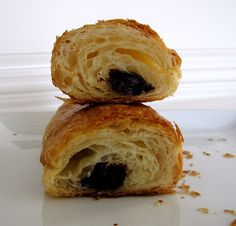 I love the internal structure of this chocolate croissant.  All of those flaky layers, make for one delicious bite.