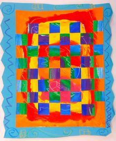 2nd Grade: Warm & Cool Weavings