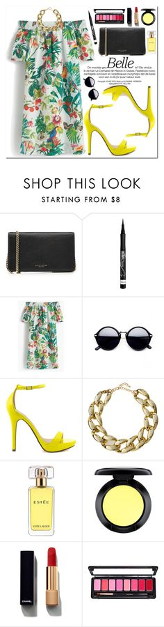 """YDNshoes"" by oshint ❤ liked on Polyvore featuring Marc Jacobs, Rimmel, J.Crew, Kenneth Jay Lane, Estée Lauder, Chanel, shoes and YDNshoes"