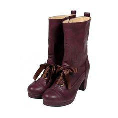 プチレースアップ使いブーツ/an another angelus ❤ liked on Polyvore featuring shoes and boots