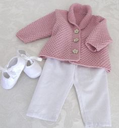 Versatile baby Cardigan or Vest with shawl collar P081