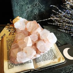 Pink Himalayan Quartz✨ ✨Pink Himalayan Quartz is a variety of Clear Quartz that has a truly lovely blush pink color and is found high in the Himalayas. www.FOXLARK.com -Crystal Shop