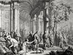 Phillip Medhurst presents Bowyer Bible print 3718 Christ and the Syro-Phoenician woman's Matthew 15:22-28 Orley on Flickr. A print from the Bowyer Bible, a grangerised copy of Macklin's Bible in Bolton Museum and Archives, England.