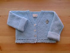 Hand knitted baby cardigan for months