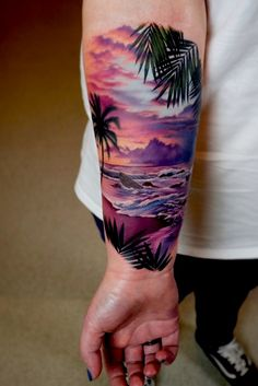 Browse tattoo ideas in all styles from tribal, Japanese, watercolor and more. Get inspired for your next tattoo Forarm Tattoos, Mom Tattoos, Forearm Tattoo Men, Body Art Tattoos, Tattoos For Guys, Colour Tattoos, Tattoo Art, Tatoos, Ocean Sleeve Tattoos