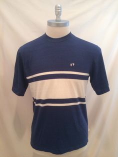 80s Hang Ten striped vintage tshirt, Size L Hawaii, Surf, Surfing tee