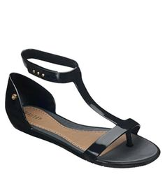 Melissa Optical Vegan Sandals in Black Made Entirely From Recycled Plastics in Green Factories!